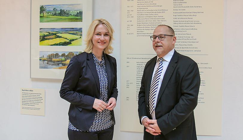 Manuela Schwesig und Jürgen Schneider