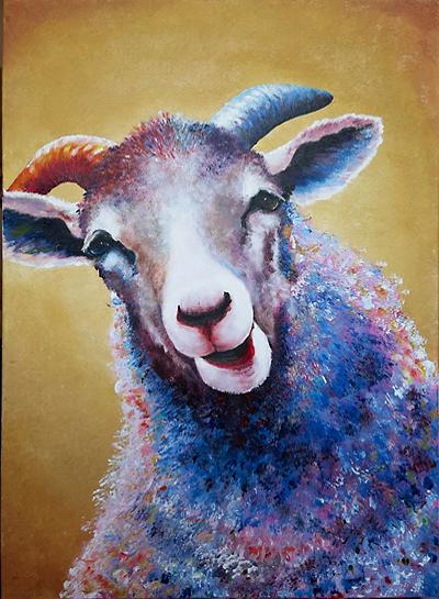 """Ausstellung """"Ahnengalerie – Ein Bauer malt seine Schafe"""""""